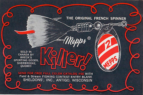 (via Classic advertisement for Mepps fishing lure | Fishing Blog & News)