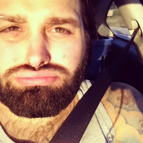 So #sunny. #beard #lips #tattoos