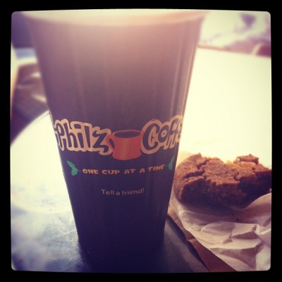 Afternoon delights at Philz Coffee - always first stop in SF!