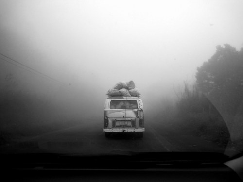 fuckyeahphotography:  Driving through Costa Rica :)  I took this while driving through the clouds up to Zarcero!