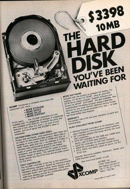 Disco duro de 10MB por 3.398 dólares.  Vía how To Geek