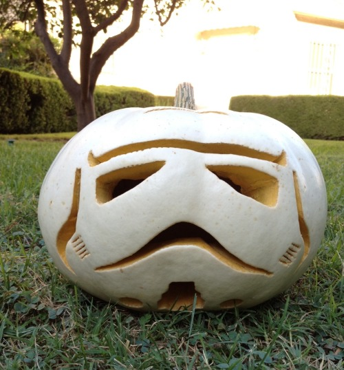 How to Make A Stormtrooper Pumpkin!