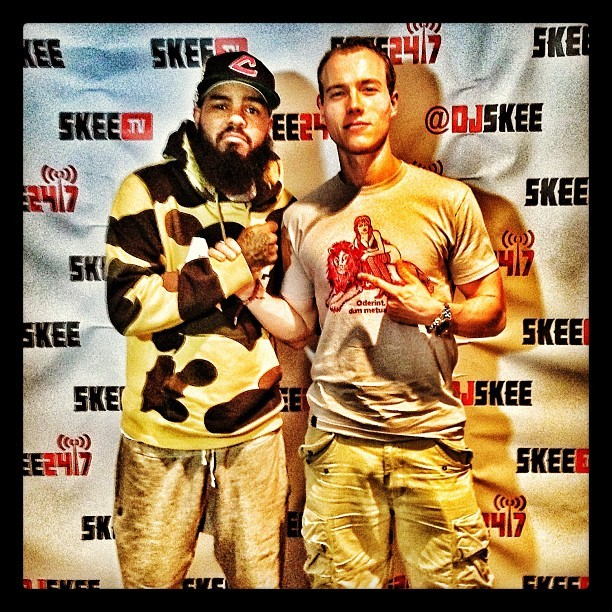 Shout to my midwest & sneakerhead bro @Stalley stopping thru the Skee Lodge #mmg (at Skee Lodge)