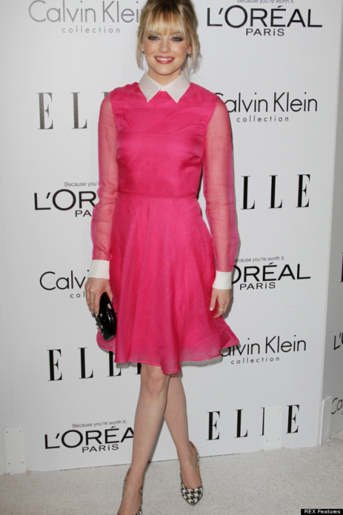 Emma Stone in pink Valentino. Yes.