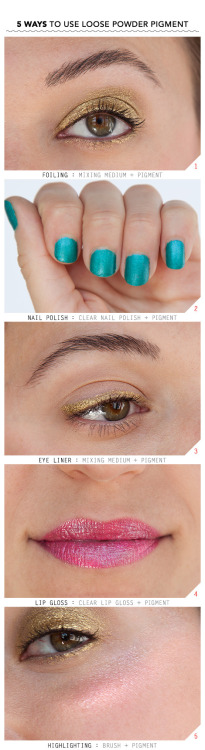 Check out these 5 ways to use loose shadow pigments!