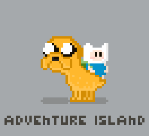 Adventure Time meets Yoshi's Island…two of my favorite things!