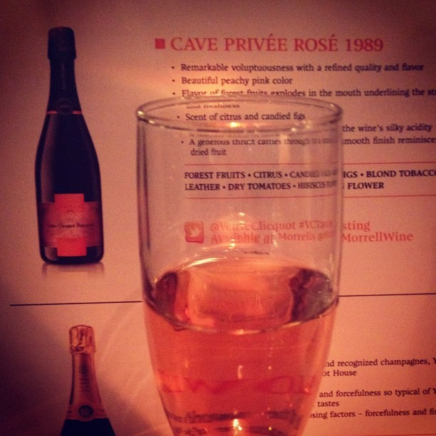 1989 Cave Privée Rosé - delicate, smooth, citrus, figs, #whoa @veuveclicquot #VCTasting  (at Crown)