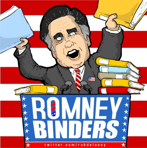 ROMNEY/BINDERS 2012 — rob delaney (@robdelaney) October 17, 2012