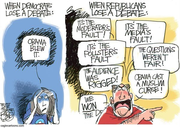 think4yourself:  Pat Bagley, Salt Lake Tribune Debate Deniers (Cartoon) | The Moderate Voice