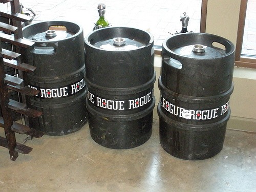 Rogue Ale's kegs are so cool! I saw one tonight in person for the first time.