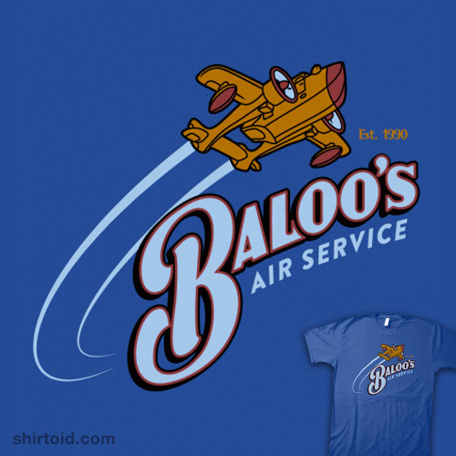 shirtoid:  Baloo's Air Service available at BustedTees