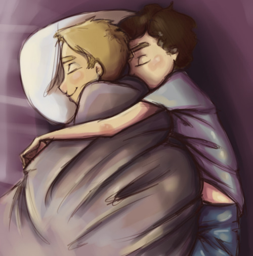 docspocklock:  Hit 70 followers today!  And now for some Johnlock cuddles for all you sexy people