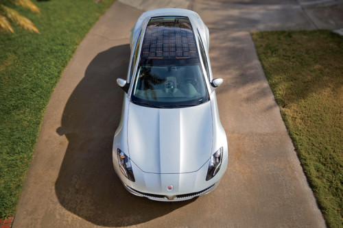 "fastcodesign:  On Tuesday night, Fisker Karma won the 2012 Innovation By Design Award for Transportation.This plug-in electric car boasts a solar panel on top and sustainably sourced materials within, such as trim made from salvaged wood. The judges praised the design's boldness. ""The Fisker shows what you can do by taking risks in sedan design,"" says judge Erica Eden, a Femme Den founder at Smart Design, ""and that's really what consumers want."""