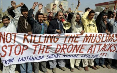 "thepeoplesrecord:  Stanford & NYU report: Only 1 in 50 killed by US drones in Pakistan are militants; the rest are innocent civiliansOctober 17, 2012 A new study shows that only one in 50 people killed by US assassination drones are militants in Pakistan while the rest are innocent civilians. The study, conducted by Stanford and New York Universities, concludes that Washington is terrorizing women and children as well as men round the clock with its unmanned aerial vehicle (UAV) attacks. The authors of the study think that the ""double-tap"" method — a drone fires a missile, then followed by a second drone — is largely to blame for the casualties. ""This shows that drone strikes go much further than simply killing innocent civilians. An entire region is being terrorized by the constant threat of death from the skies,"" said Clive Stafford Smith, the director of the charity Reprive that also participated in interviewing people for the report. According to the study, Pakistan's tribal areas near the border with Afghanistan have witnessed at least 345 drone strikes during the past eight years. ""These strikes are becoming much more common,"" The Independent quoted Mirza Shahzad Akbar, a Pakistani lawyer who represents victims of drone strikes, as saying. ""In the past it used to be a one-off, every now and then. Now almost every other attack is a double tap. There is no justification for it."" Research also shows the consequences are much more profound than simply the fatalities, as the survivors of the attacks suffer from deep psychological trauma. Despite Pakistani government's repeated calls on Washington to end the drone attacks, the US government continues its strikes on the tribal regions of the country. The aerial attacks were initiated by former US President George W. Bush, but have escalated under President Barack Obama. The drone strikes have triggered massive anti-US demonstrations across Pakistan to condemn the United States' violations of their national sovereignty.  Source"
