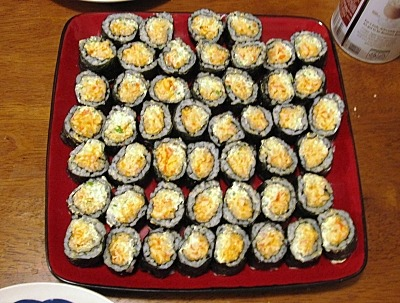 How I make easy, cheap sushi.