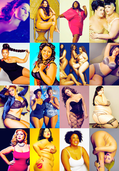 deviantfemme:  tobiasfunkes:   what to wear when…being unapologetically fat and beautiful (requested by secretlylilypotter).     post 275 of an infinity-part series    I wish that someone had kept the names of models & photographers when they put all these pictures together because then it would be perfection.