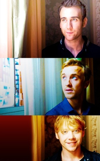 depthofnothing:  Mathew Lewis, Tom Felton & Daniel Radcliffe