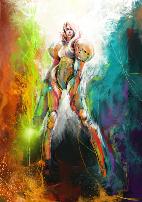 "Samus Created by Ignatius Tan (Muju) 16 x 20"" Giclee Print Preorder for $35 at Two Crows Printing"