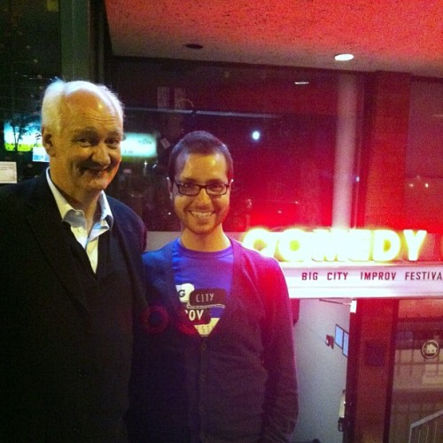 COLIN MOCHRIE and I outside at Big City Improv Festival!