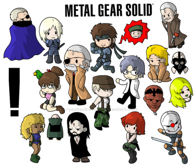 dudeletsgame:  Metal Gear Solid Chibis - By Ryoshockwave (via DeviantART)  I found some of my older art from DA posted across Tumblr. Going to take a moment to reblog it here.