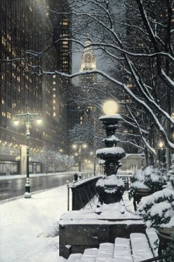 bluepueblo:  Winter's Night, New York City photo via lady