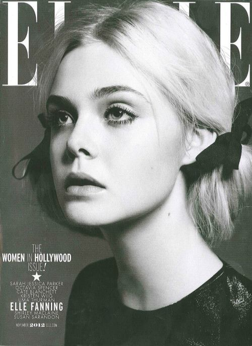 vogueweekend:  Elle Fanning on Elle November 2012