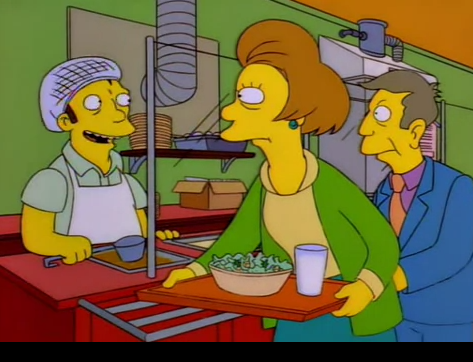 "simpsons-overdose:  ""Good gravy!"" ""Why thank you, it's just brown and water."""