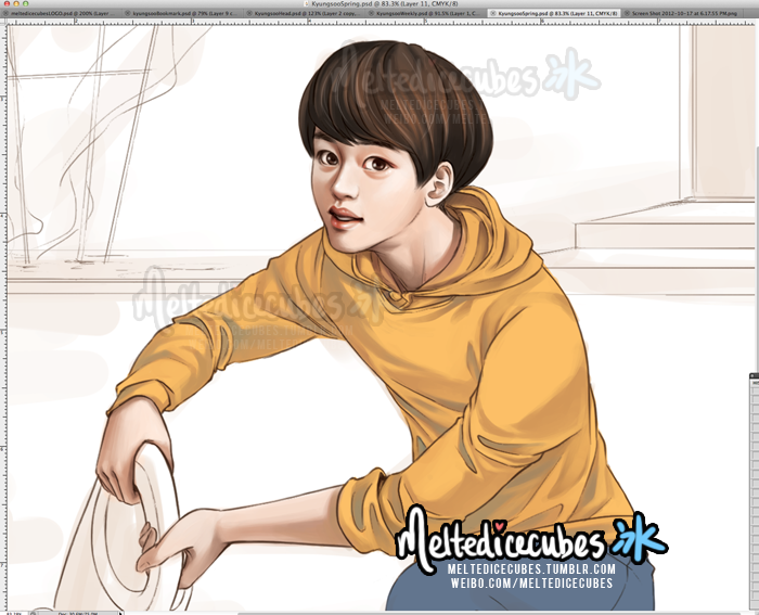 Work in progress of one of the illustrations I'm doing for magnolia_do's kyungsoo DYO DIARY! :D I won't be posting the final illustration until the Diary's done selling, but you can catch me stream tomorrow night as I try to finish this haha. http://magnoliagoods.er.ro/ <— go check out the kyungsoo diary here guys! It's an awesome planner and comes with pretty neat goods (bookmark and earcap(the thing that goes into your cell's headphone jack) that I drew!)/ yay~