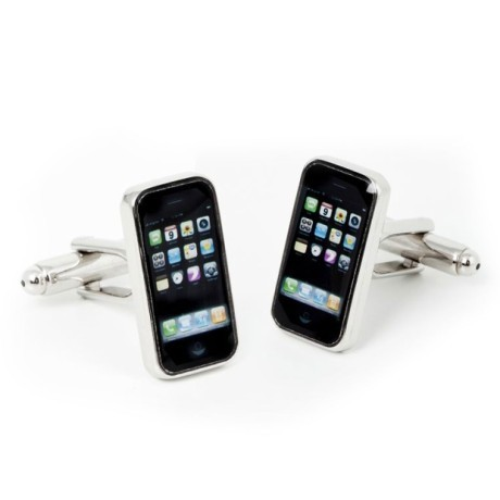iPhone cufflinks (via Fab UK)