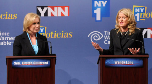 From the one and only debate between Senator Kirsten Gillibrand and Republican challenger Wendy Long. via New York Times