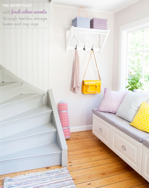 pastels for the entryway