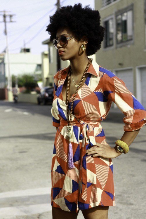 blackfashion:  Dress: Forever, Shoes: Aldo, Watch: Vintage, Glasses: H&M #Blackfashion On FacebookTwitter @BlackFashionbyj