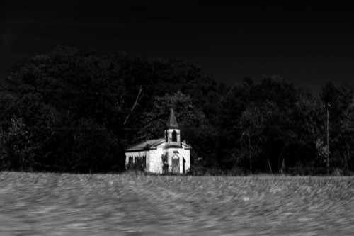 Abandoned church on the way to Keysville.
