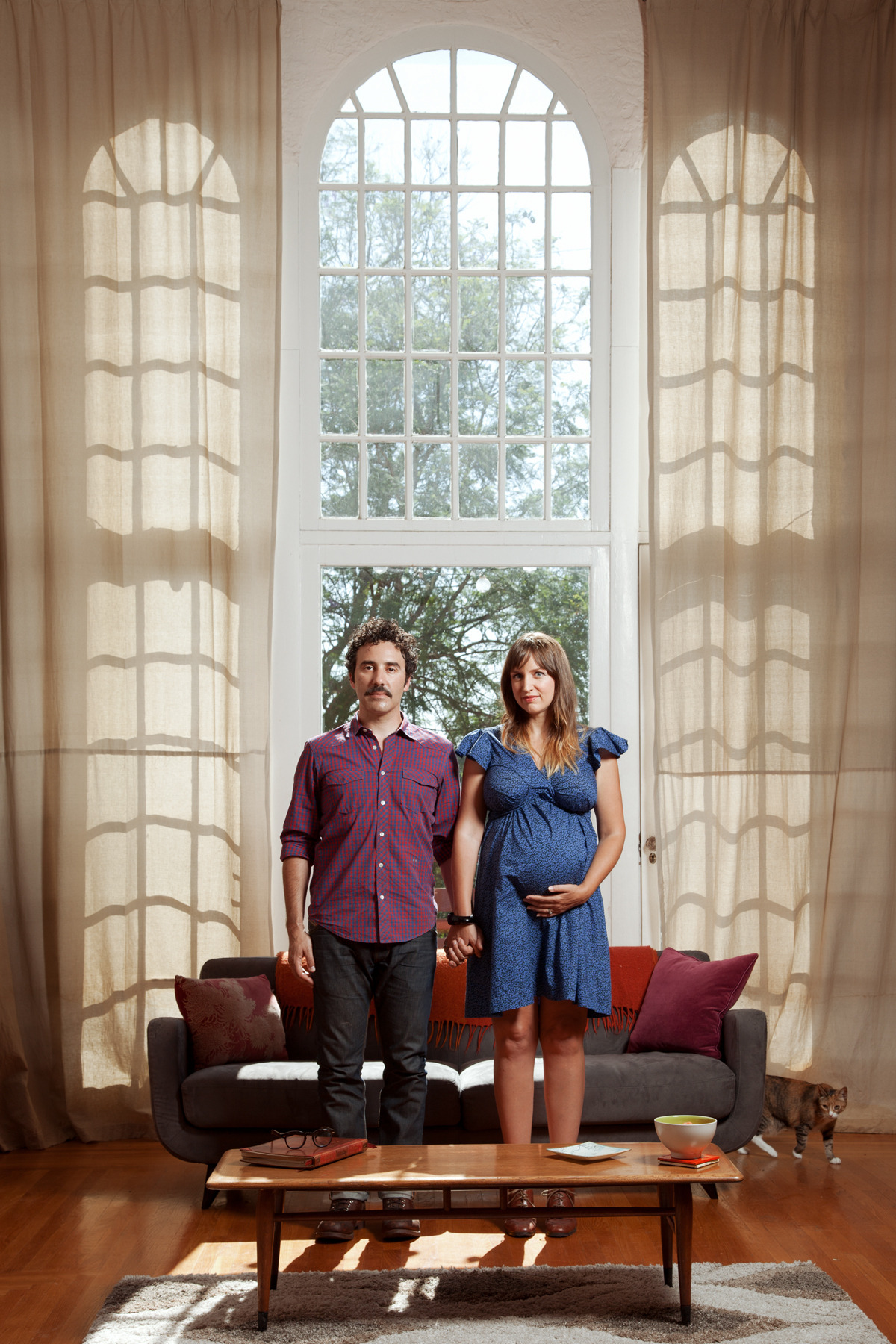 Todd & Lisa in their home.  Silverlake, CA - July 2012 ©Lauren Randolph
