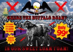 "Where the buffalos roams - 2012 - Computer generated picture This work is from the project ""Meet our meat"" - see the rest of the works on Behance on http://www.behance.net/gallery/MEET-OUR-MEAT/5372041 4 works from this project are featured on Revolution art magazine on the #38 issue ""Animal"" - www.revolutionartmagazine.com"