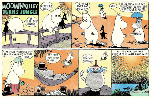 Moomin Valley Turns Jungle by Tove Jansson ~ Republished by Drawn & Quarterly, 2012