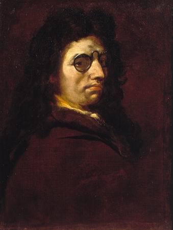 Birthday of Luca Giordano, Baroque Italian painter from Naples. He was the son of a painter, born in 1634; in his teens he was an apprentice to the Spanish master Ribera, under whose strong influence he remained in his earlier works. Funnily, after a career in most important cities in Italy, Luca Giordano spent a decade in Spain himself. Giordano had considerable skill and was known to have painted extremely quickly - which was the source of his nicknames Fulmine (the Thunderbolt) andPrometheus of painting; however, being so prolific he was later also said to be trader of all styles, and master of none. This is his self portrait from around 1692.