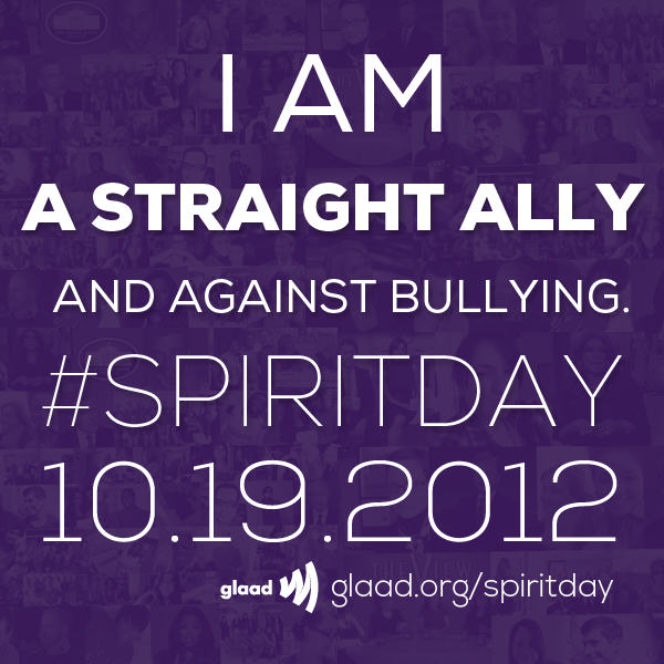 #SpiritDay: Are you against bullying? Check out our Facebook album of great graphics you can share to show your support for Spirit Day!