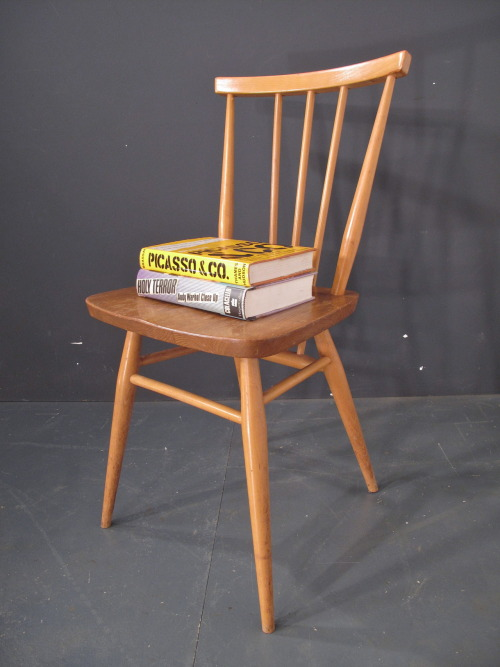 ercol dining - desk chair.  early label SOLD