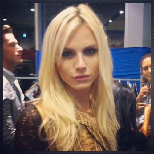 Andrej Pejic at Istanbul's Marmara Forum Fashion Week (Instagram pic from @znpasli)