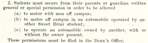 ~ Student's Handbook, Sweet Briar College, 1955-1956via Internet Archive