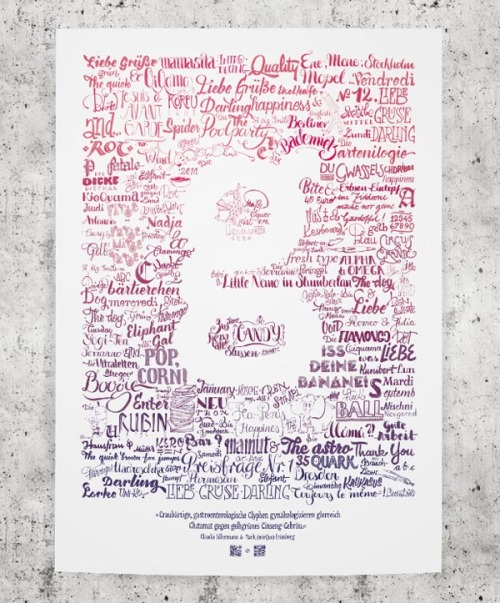 Typeverything.com Lettering Poster by Mark Fromberg and Claudia Silbermann.