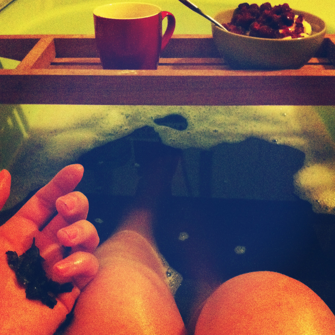 Green-tea bath!