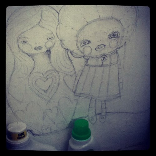 #laundry #room #wall #drawing #inmyhouse #kosharek #art #eatsleepdraw  (at kosharek arthouse)