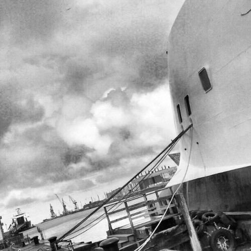 Alongside #Belfast #ships #ferry #docks #mono