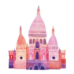 aplaceforart:  (via Sacre Coeur Illustration 12 x 12 Digital Print by marisamidori)
