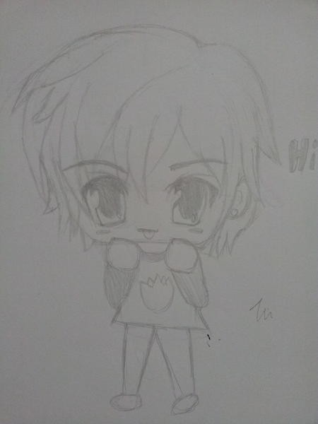 MY FAIL ATTEMPT AT DRAWING REN IN CUTE CHIBI MODE OTL HE LOOKS TO CUTE I HATE IT B( SIGH NEED TO IMPROVE MY DRAWING… LIKE SERIOUSLY… IT'S LIKE I CAN'T DRAW AT ALL AFTER LIKE 3 MONTHS OF NOT DRAWING TT^TT