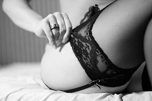 Thigh High Thursday Buckle up. Dangerous curves ahead.