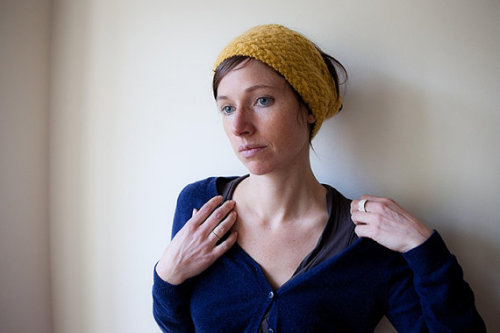 Yellow Cable Knit Headband Hand Knitted Texture by mosgos on Etsy