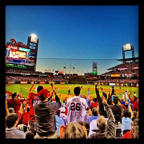 Citizens Bank Park packed on game day #BestFansinBaseball #Phillies